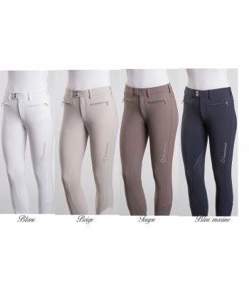 RidersDeal Collection pour Les Cavaliers RIDERS CHOICE Pantalon d/équitation pour Femmes avec Fond Complet en Silicone Limited Silver Design