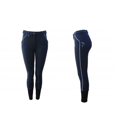 Pantalon d'équitation tradition JMR enfant bleu - blanc