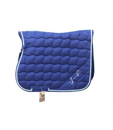 tapis de selle bleu marine et argent jmr pro couleur. Black Bedroom Furniture Sets. Home Design Ideas