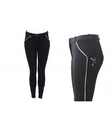 Pantalon d'équitation tradition JMR enfant noir-gris