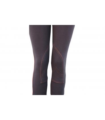 Pantalon d'équitation tradition JMR enfant brun - orange