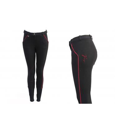 Pantalon d'équitation tradition JMR enfant noir - rouge